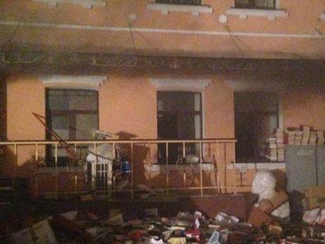 В Киеве горел офис КПУ (Фото)