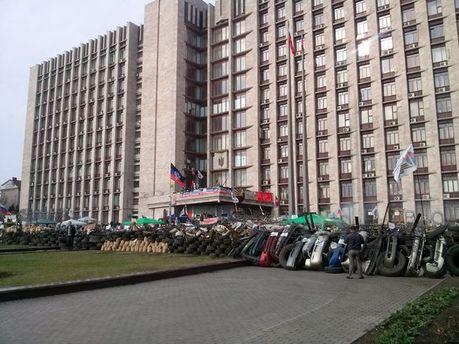 Баррикады возле Донецкого облсовета