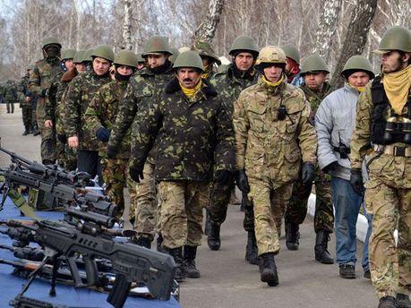 Бойцы Самообороны Майдана