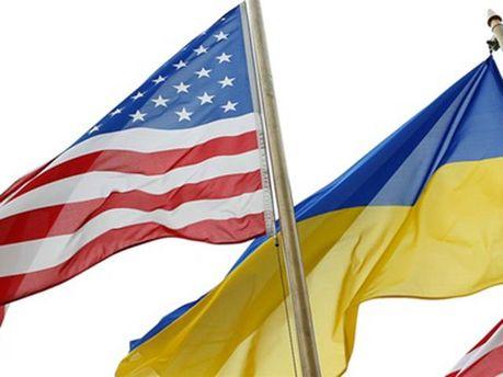Прапори США і України