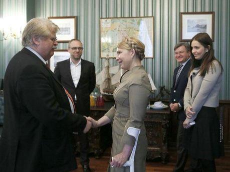 Юлия Тимошенко и Элмар Брок