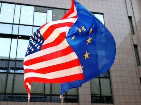 Прапор ЄС та США