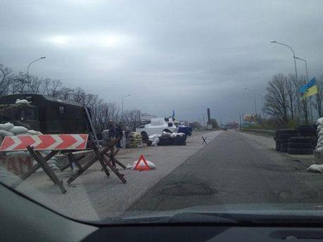 Блок-пост под Борисполем