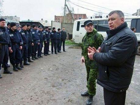 Возле горотдела милиции в Горловке