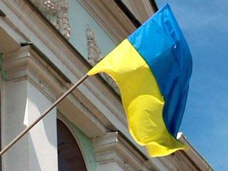 Украинский флаг на здании Меджлиса