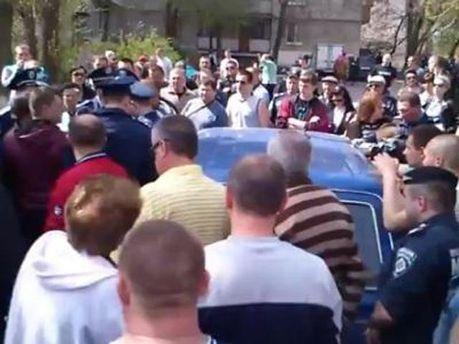Митинг в Рубежном