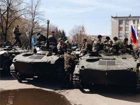 Сепаратисты с военной техникой