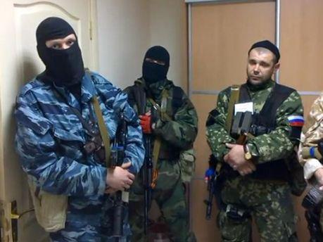 Боевики в Луганске