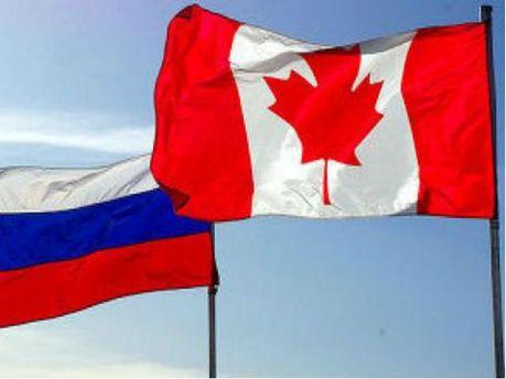 Флаг Канады и РФ