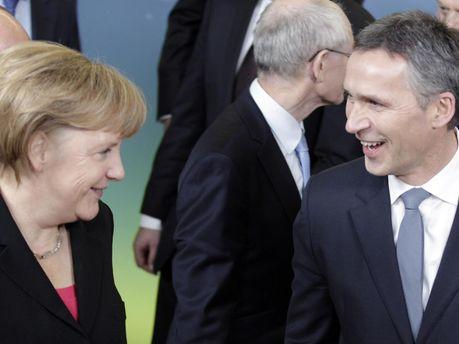 Ангела Меркель и Йенс Столтенберг