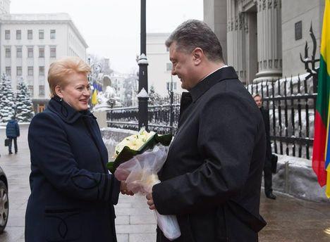 Петро  Порошенко та Даля Грібаускайте