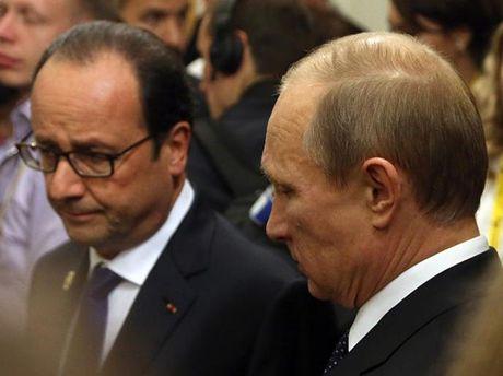 Ф. Олланд и В. Путин