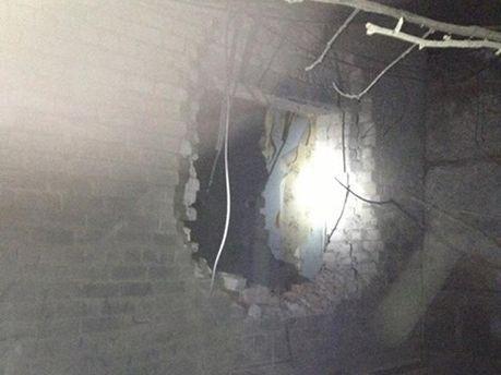 Результат взрыва в Авдеевке