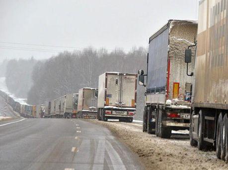 Затор на белорусско-российской границе