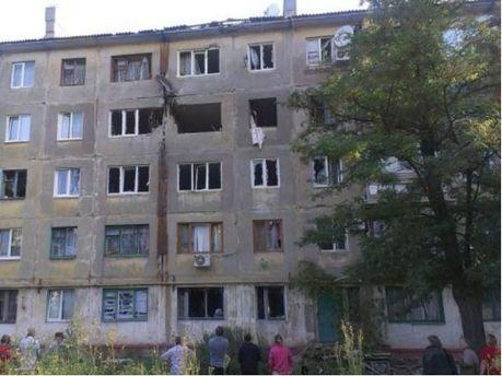 Дом после обстрелов