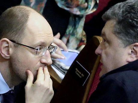 Яценюк и Порошенко
