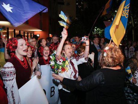 Украинцы Австралии встречают Порошенко