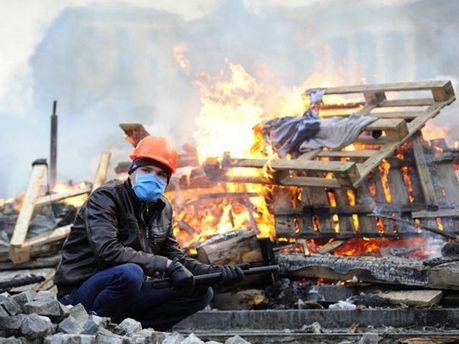Протестующий на Майдане