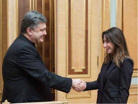 Петро Порошенко та Катерина Згуладзе