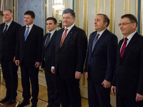 Петро Порошенко, Павло Клімкін та лідери Країн Вишеградської четвірки