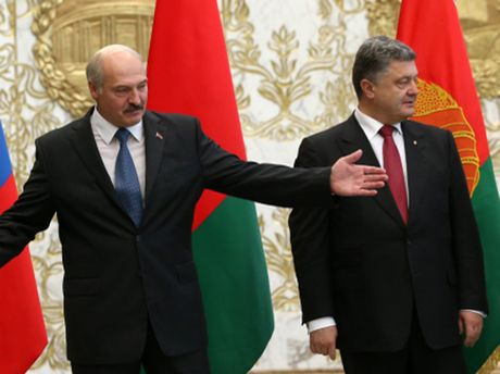 О. Лукашенко і П. Порошенко