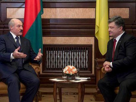 Олександр Лукашенко та Петро Порошенко