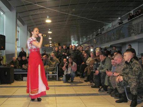 Концерт для військових у зоні АТО
