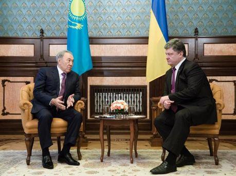 Нурсултан Назарбаев и Петр Порошенко