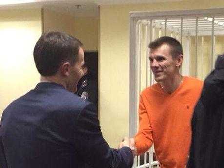 Сергей Коба в зале суда