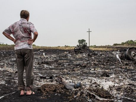 На месте катастрофы Boeing-777