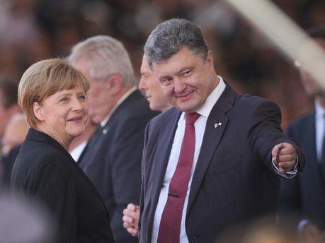 П.Порошенко и А.Меркель