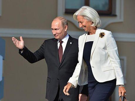 Володимир Путін та Крістін Лагард
