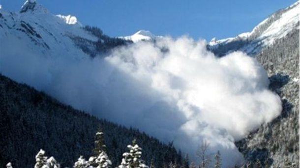 Лавина в горах