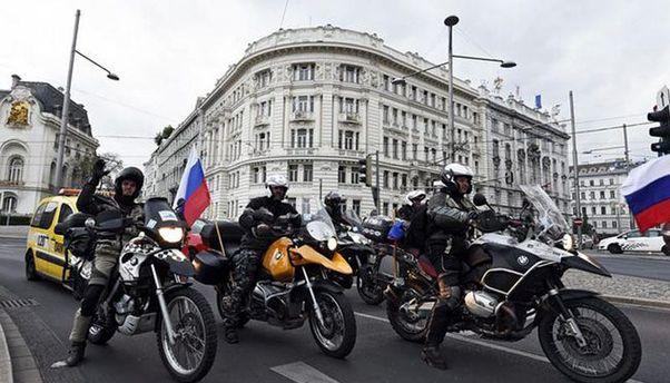 Российские байкеры в Вене