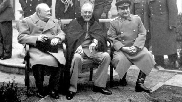 Сталин на Ялтинской конференции
