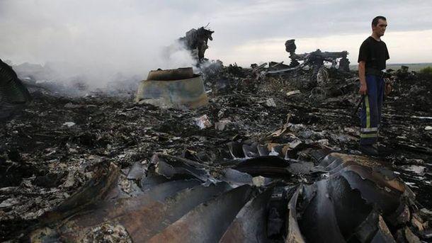 Место падения сбитого Boeing 777