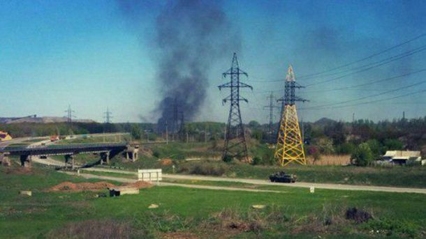 В Донецке взорвалась машина с боеприпасами
