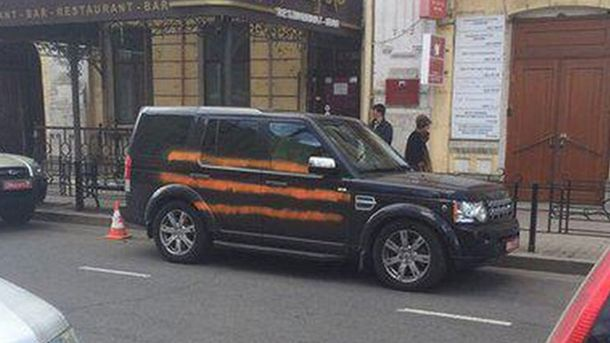 Машина польського консульства в Іркутську