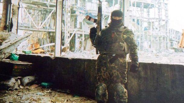 Євген під час захисту Донецького аеропорту