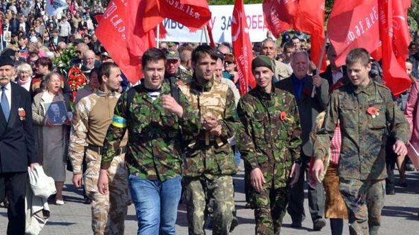 Активісти Євромайдану охороняли ходу комуністів у Херсоні