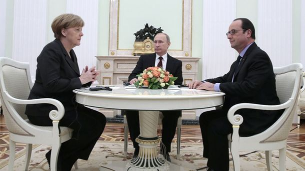 Меркель і Олланд у Путіна