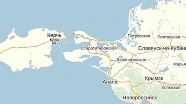 Карта Керченской переправы