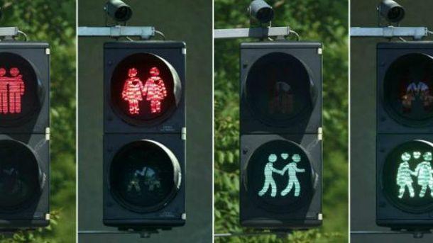 В Вене создали специальные светофоры для геев