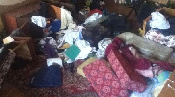 Квартира журналіста після погрому