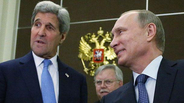Джон Керри и Владимир Путин
