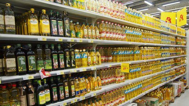 Олія в супермаркеті