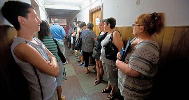 Очереди в регистрационной палате