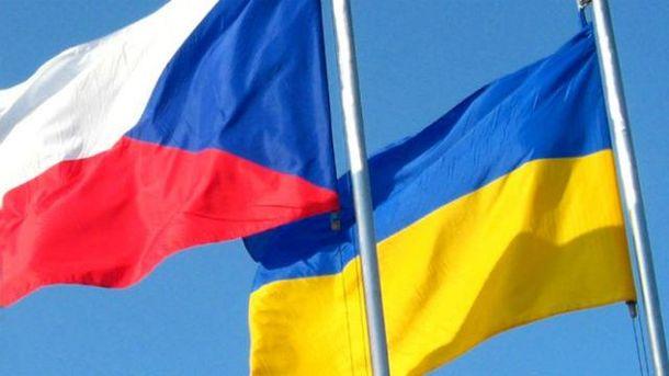 Флаги Чехии и Украины