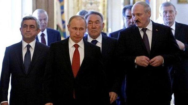 Президенты Армении, России и Беларуси
