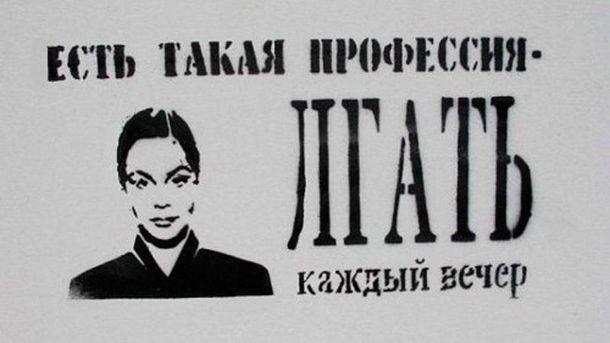 Граффити о российской пропаганде